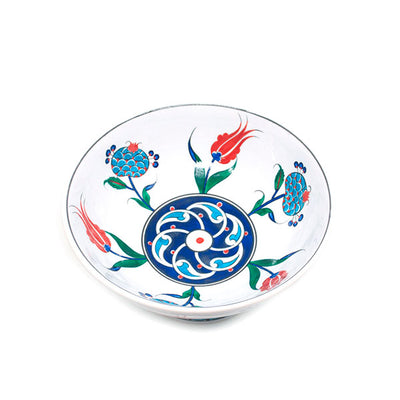 Iznik Design Footed Fruit Bowl