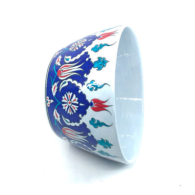 Iznik Ceramic High Bowl Palmette Design