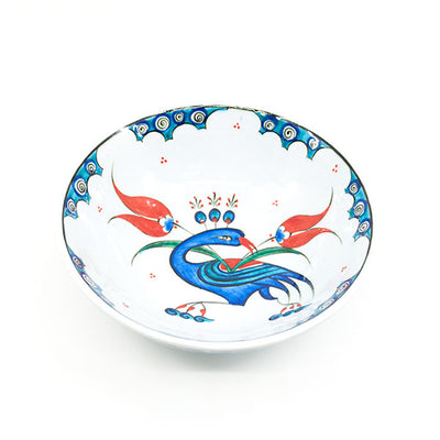 Iznik Bowl Peacock Pattern