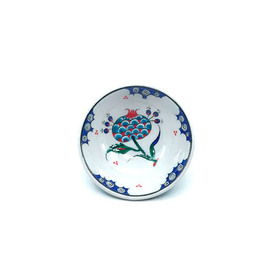 Iznik Pomegranate Flower Serving Bowl