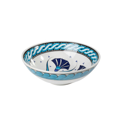 Iznik Carnation Pattern Soup Bowl