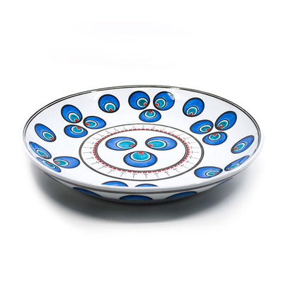 Iznik chintamani pattern deep serving plate