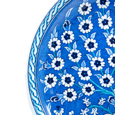 blue and white iznik plate