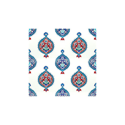 Iznik tile medallion pattern