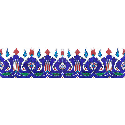 Iznik Border Tile Palmette Design