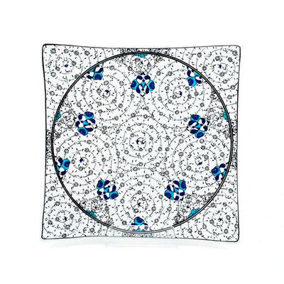 Iznik Square Serving Plate Set of 6 | Golden Horn
