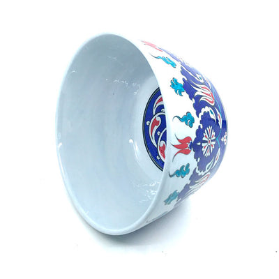 Iznik Ceramic Bowl Palmette Design