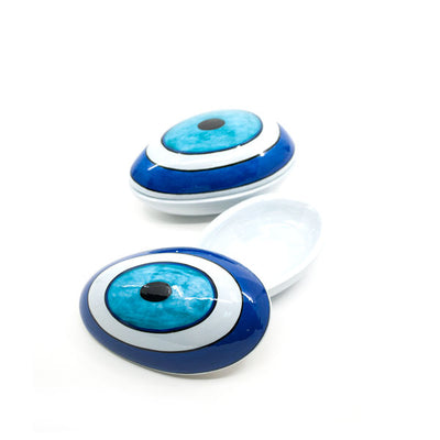 ceramic easter egg evil eye design