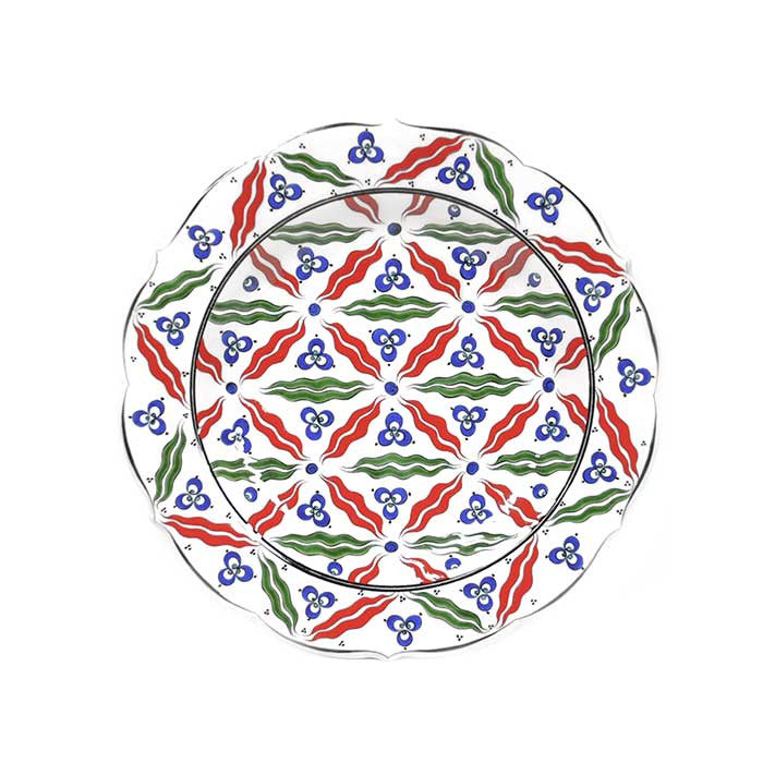 iznik plate chintamani patterns
