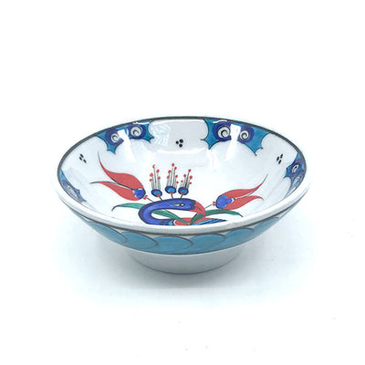 Iznik bowl with a stylized peacock design