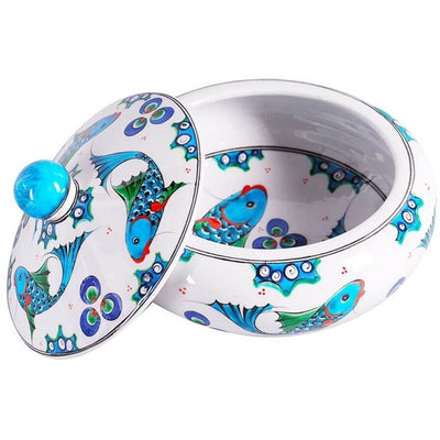 iznik ceramic bowl fish pattern