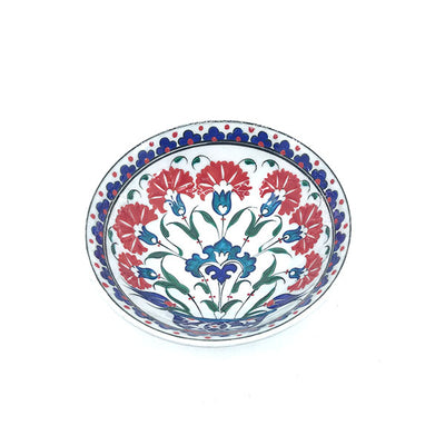 Iznik pottery bowl with carnation pattern