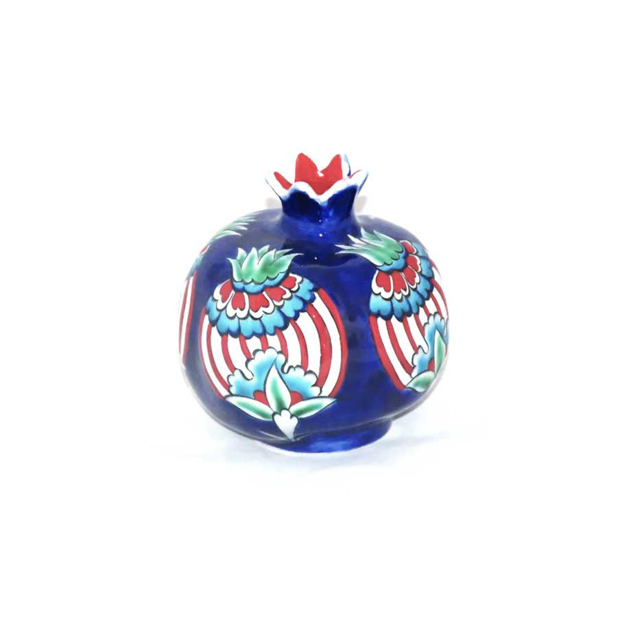 Blue Ground Ceramic Pomegranate