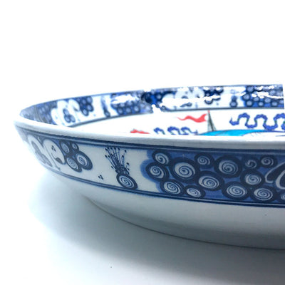 Iznik collection plate with beautiful sailing-ship pattern