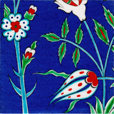 iznik ceramic panel detail
