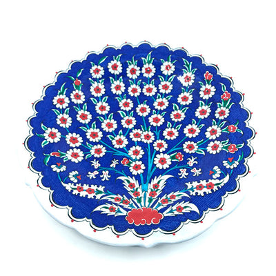Iznik Plate Tree of Life Blue Ground detail