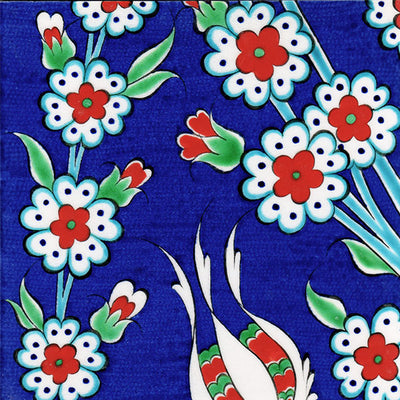 iznik tile panel detail