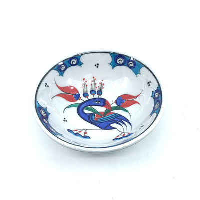 Iznik bowl with peacock design