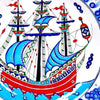 galleon iznik plate