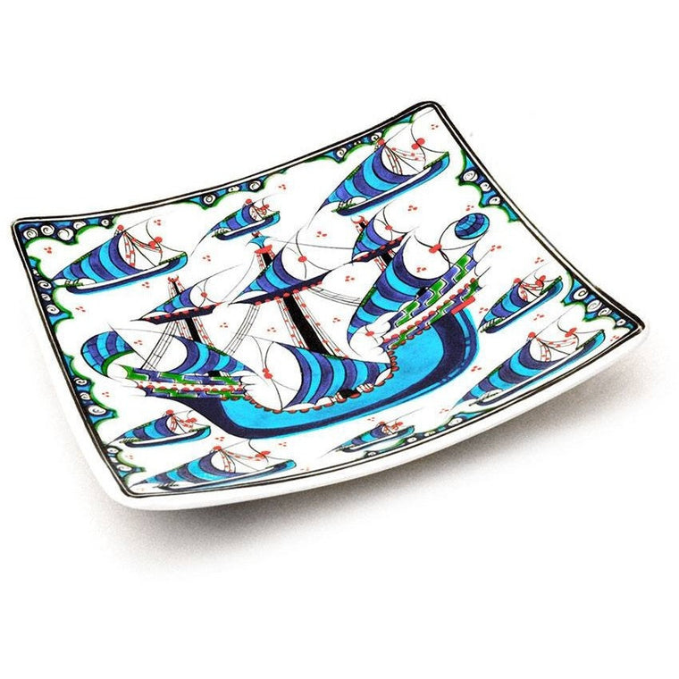 Gift - Iznik Square Plate | Galleon Design