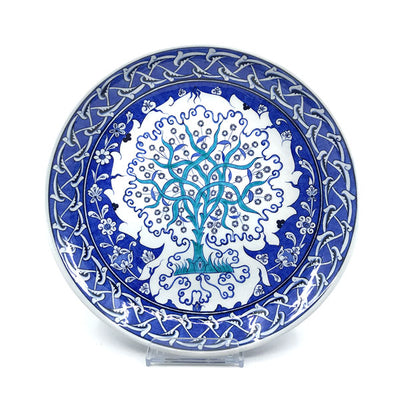 Iznik deep plate with tree of life pattern