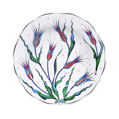 Iznik Plate |  Decorated with Istanbul Tulip