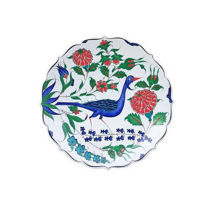 Iznik Plate Rose and Bird