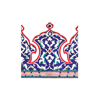 Multicolor Iznik Tile with Palmetts