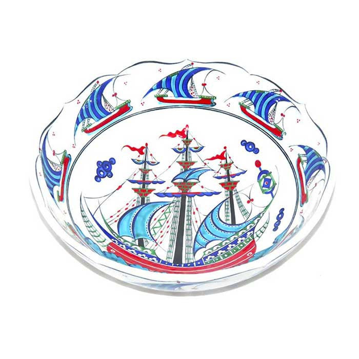 Iznik Bowl Ottoman Galleon
