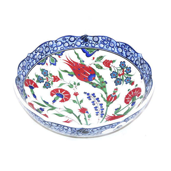 Iznik Bowl  Hyacinths and Carnations