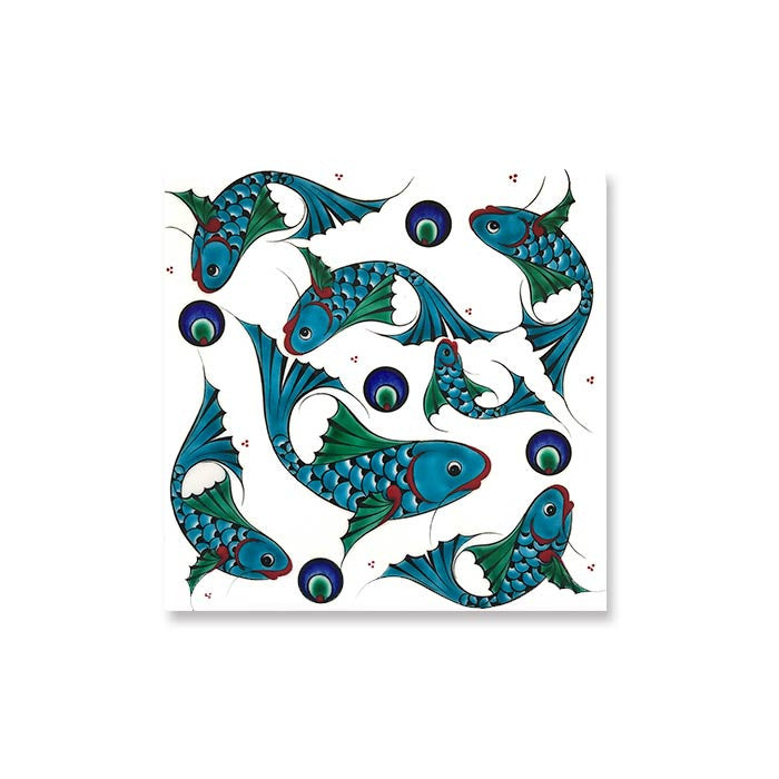 iznik tile with fish design