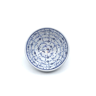 Iznik cobalt-blue golden horn design