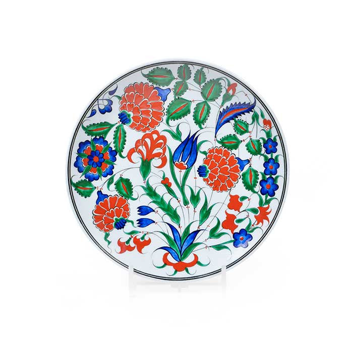 Iznik Plate Rose and Tulips