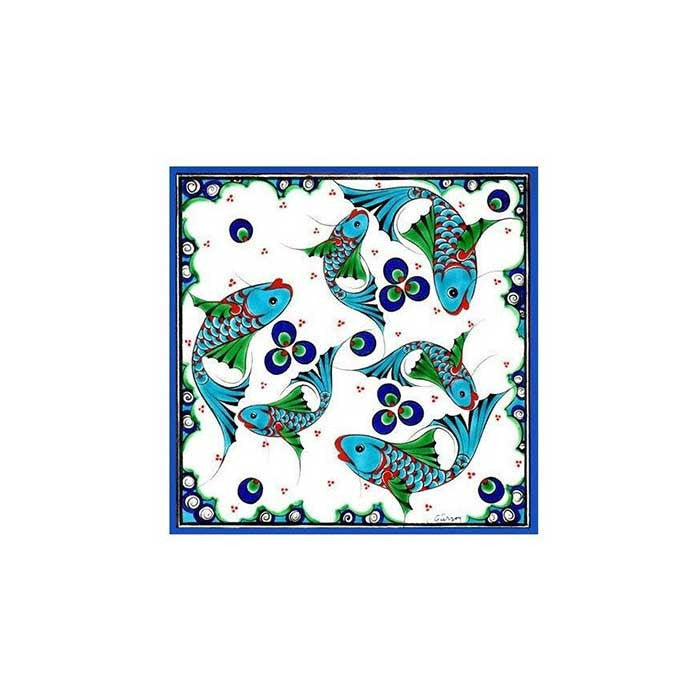 Iznik Tile Fish Patterns