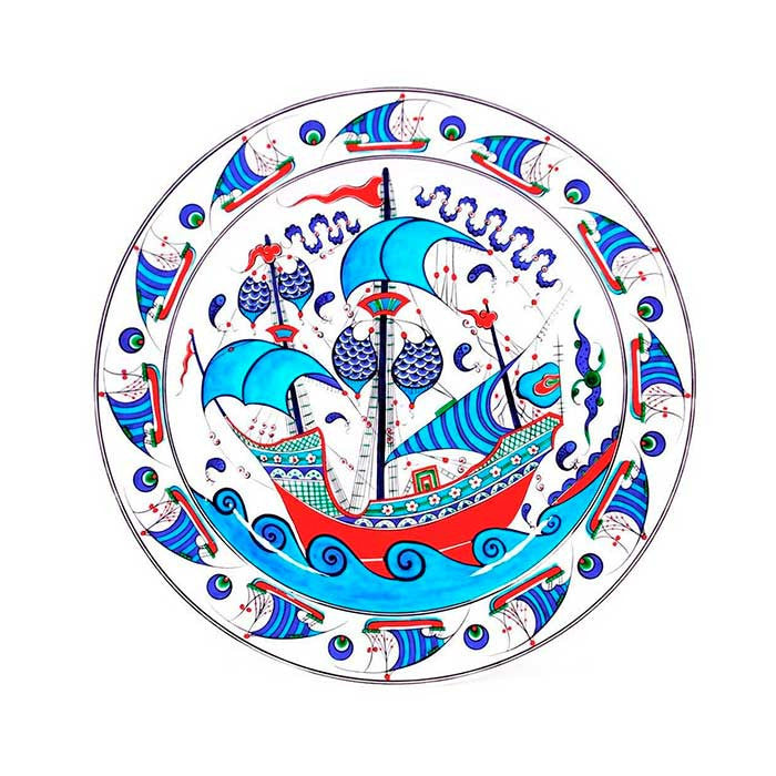 iznik great galleon plate