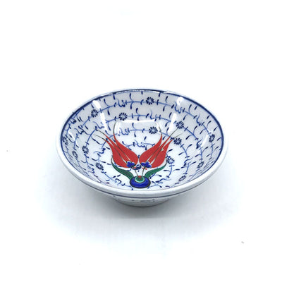 Iznik bowl tulip with golden horn design