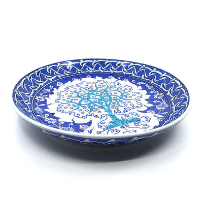 Iznik plate with tree of life pattern