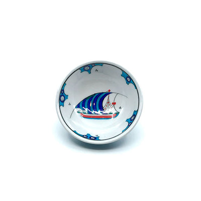 Iznik bowl with a single ship design
