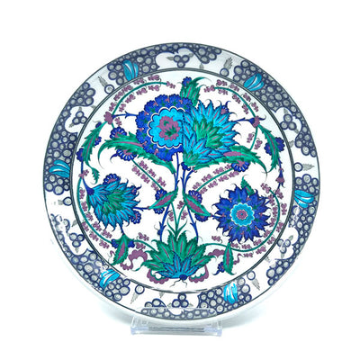 Iznik Deep Plate Branches of Hyacinth