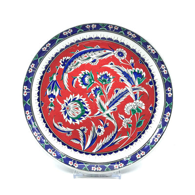 Iznik Deep Plate Palmette and Carnation