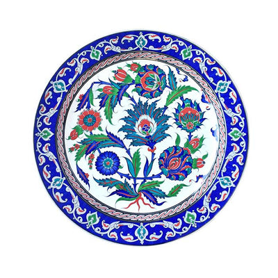 iznik plate with sycamore leaves