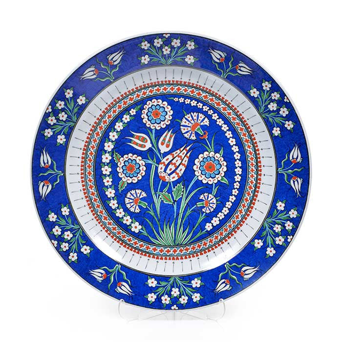 Iznik Plate Carnations and Tulips