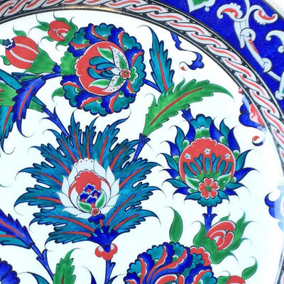 iznik plate sycamore leaves