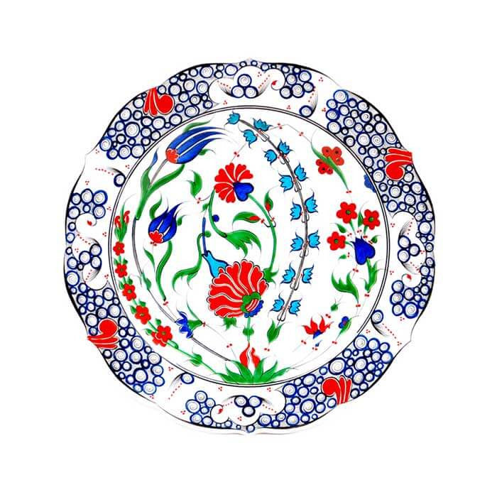 Iznik Plate Rose Pattern