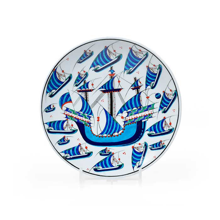 Iznik Plate Galleon Design