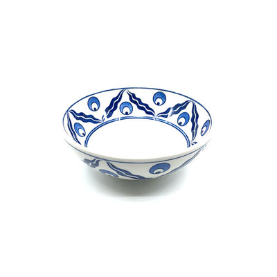 Chintamani design iznik ceramic soup bowl