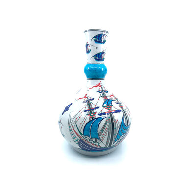 Iznik vase ship depicted with mini galleons