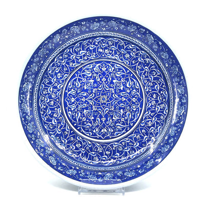 Important Blue and White Iznik Pottery Deep Plate