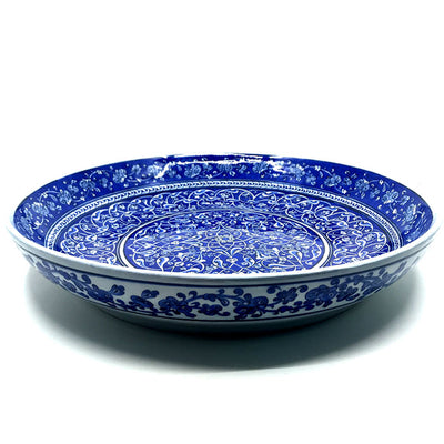 Important Blue and White Iznik Deep Plate