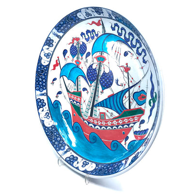 Iznik collection plate sailing-ship